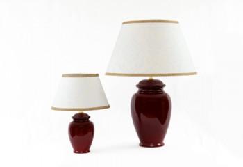 Coppia lampade artigianali in ceramica